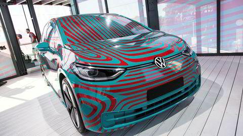 Volkswagen ID. 3 debuterer til høsten. Her er en kamuflert versjon på Goodwood tidligere i sommer.