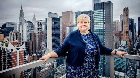 Statsminister Erna Solberg (H) kom til New York i helgen for å følge FN-uken og vil aktivt ta opp handel når hun snakker med andre statsledere de neste dagene.