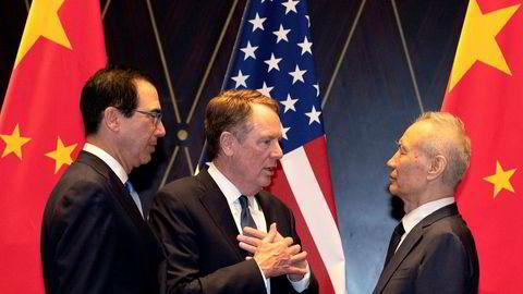 En kinesisk regjeringsdelegasjon, ledet av visestatsminister Liu He, har ankommet USA for å starte den 13. forhandlingsrunden i håp om å avslutte den over 18 måneder lange handelskrigen. USA forbereder seg til å trappe opp med en økning av straffetollen allerede i neste uke.