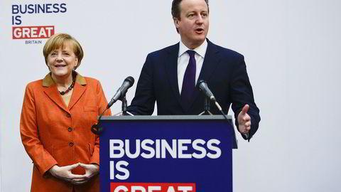 REFORMER. Statsminister David Cameron krever en reforhandling av Storbritannias forhold til EU. Også Tysklands Angela Merkel mener unionen trenger en reform. Foto: Nigel Treblin/Getty Images