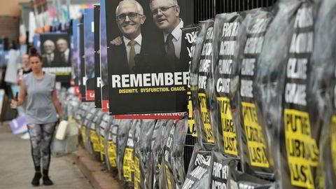 De største politiske partiene i Australia er hacket kort tid før valget.
