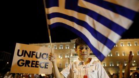 GREXIT: Forblir Hellas i Eurosonen? De fleste vedder fortsatt på det i følge britiske bookmakere. Foto: Aleksander Nordahl