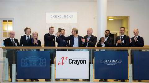 Her fra børsnoteringen av Crayon i 2017.