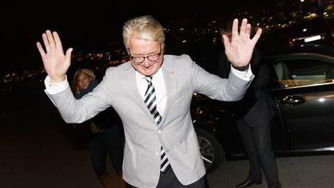 Fabian Stang fotografert under valgvaken til Høyre. Foto: Heiko Junge /