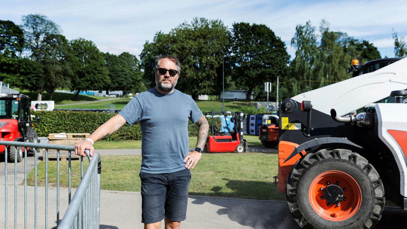 Claes Olsen har vært med på å arrangere Øyafestivalen fra starten av i 1999.