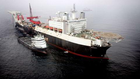 """Allerede i 2013 ble det advart om at Aasta og Polarled kunne bli tapsprosjekter (flere saker i TU.no). Etter det har to sentrale gassprosjekter som skulle bruke Polarled, blitt lagt på is: Kristin og Linnorm. Her rørleggingsfartøyet """"Solitaire""""."""