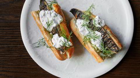 Bjørn Svenssons makrell-baguette burde du også prøve deg på i sommer. Foto: Tommy Andresen