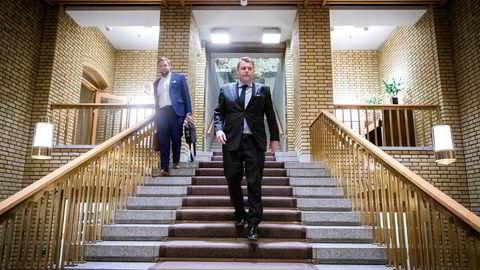 Jøran Kallmyr medgir at han ikke er så kjent på Stortinget ennå. Onsdag fikk han følge av politisk rådgiver Christoffer Pederssen.