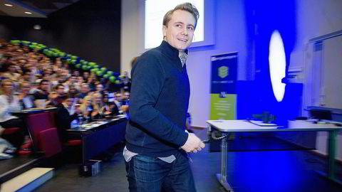 Kristian Monsen Røkke var på BIs årskonferanse i Nydalen i Oslo tirsdag for å snakke om sin tid som konsernsjef for Aker Philadelphia. Foto: Mikaela Berg