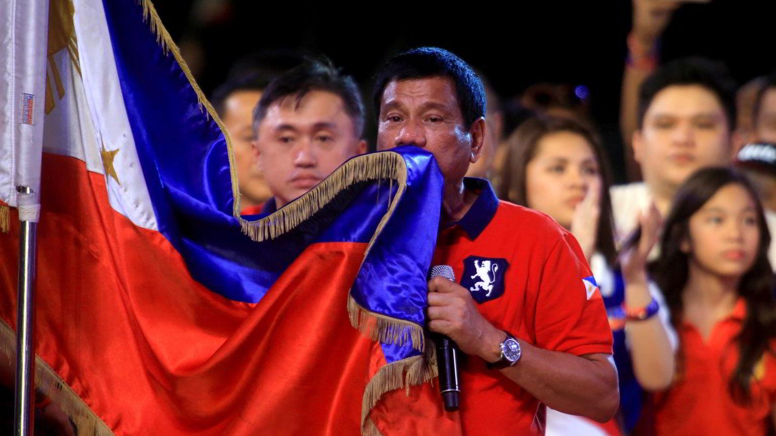Rodrigo «Digong» Duterte blir ny president på Filippinene.