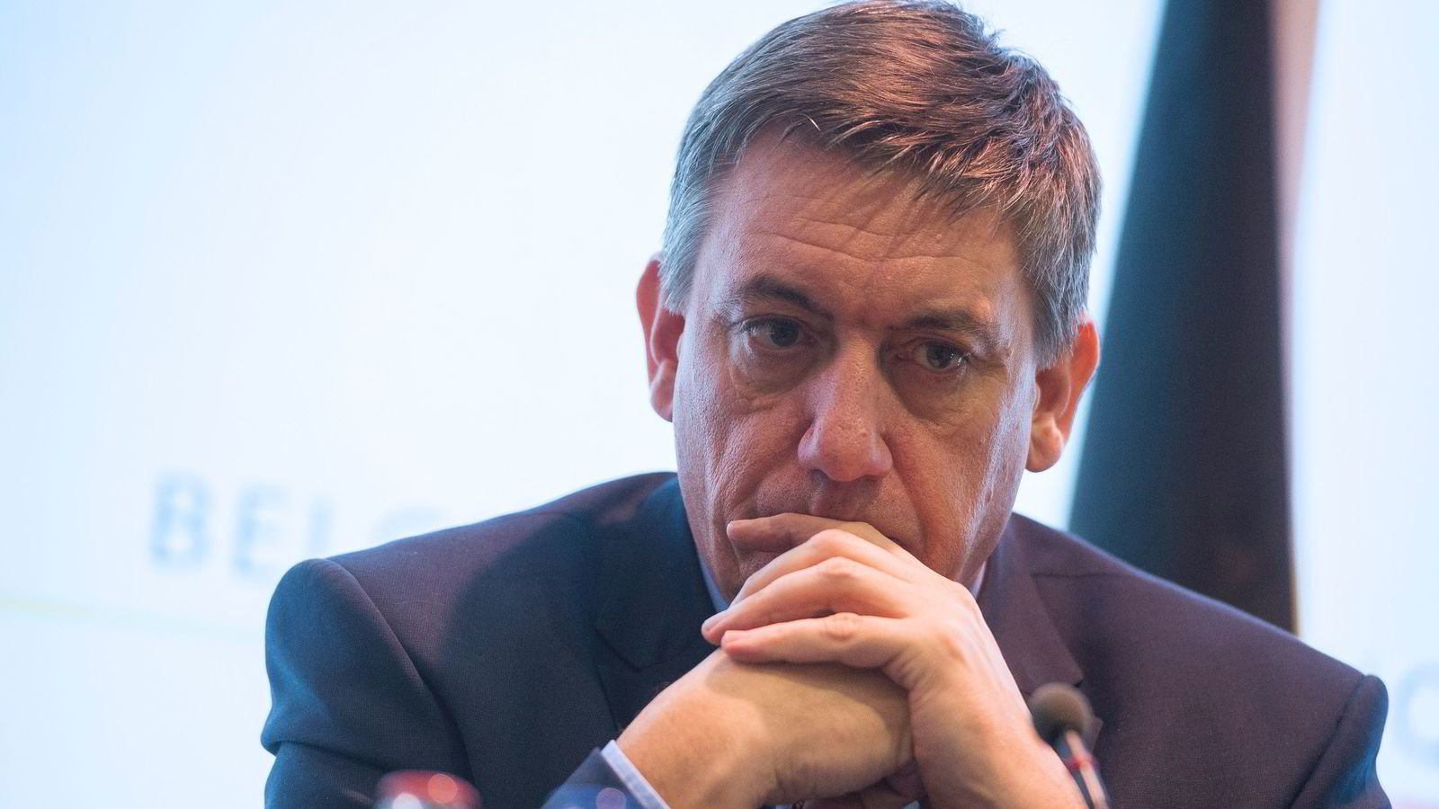 Belgias innenriksminister Jan Jambo. FOTO: AFP PHOTO / Belga / LAURIE DIEFFEMBACQ / Belgium OUT