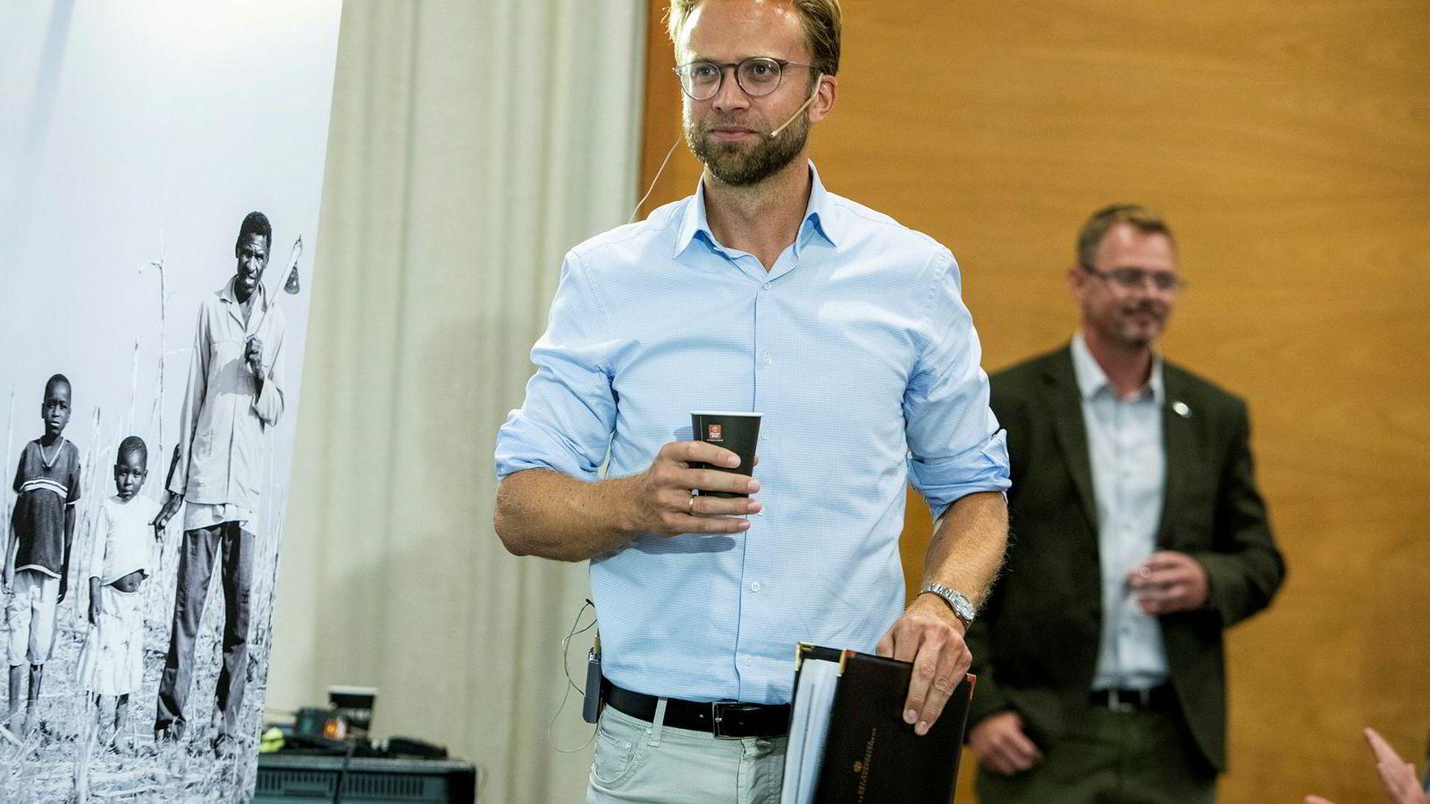Nikolai Astrup (H) vil ikke stenge kinesiske Huawei ute fra Norge.