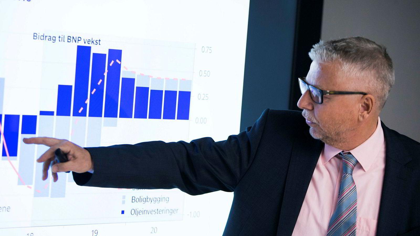Sjefanalytiker Erik Bruce i Nordea tror det kan være en god idé å binde renten etter at Norges Bank torsdag satte opp styringsrenten til 1,25 prosent.