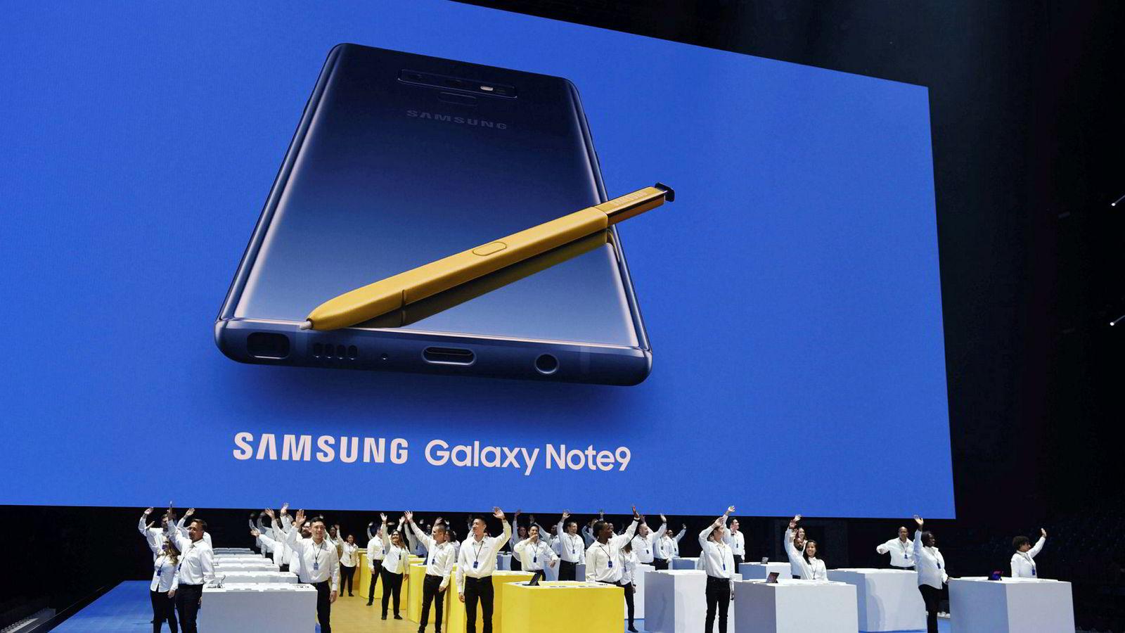 Samsung Note9 ble lansert denne uken. Den store smarttelefonen sikter seg inn mot de mest kresne kundene.