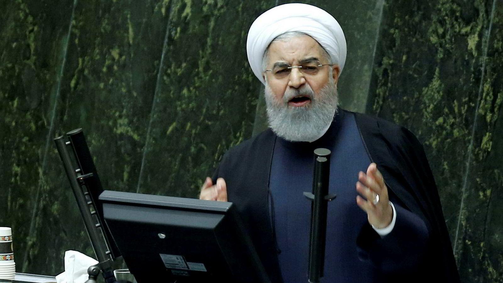 Broren til Irans president Hassan Rouhani er dømt til fem års fengsel for korrupsjon. Bildet viser den iranske presidenten.