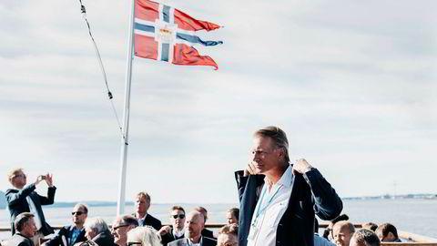 Ferd-eier Johan H. Andresen fikk avgjort sin skatteklage på rekordtid, to dager før han ble nominert til Etikkrådet for Oljefondet. Her er han utenfor Stord ifjor i forbindelse med sammenstillingen av Johan Sverdrups boreplattform.