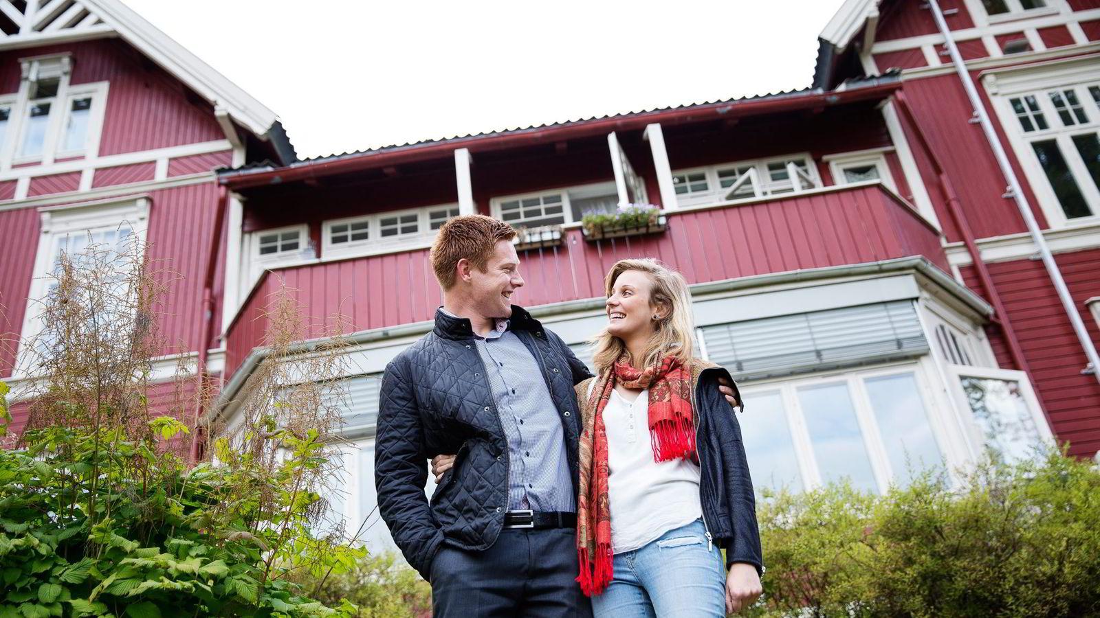 PRUTET PÅ LÅNET. Arne Marius Skillingstad og kjæresten Emma Smith fikk redusert renten ved å ringe DNB.