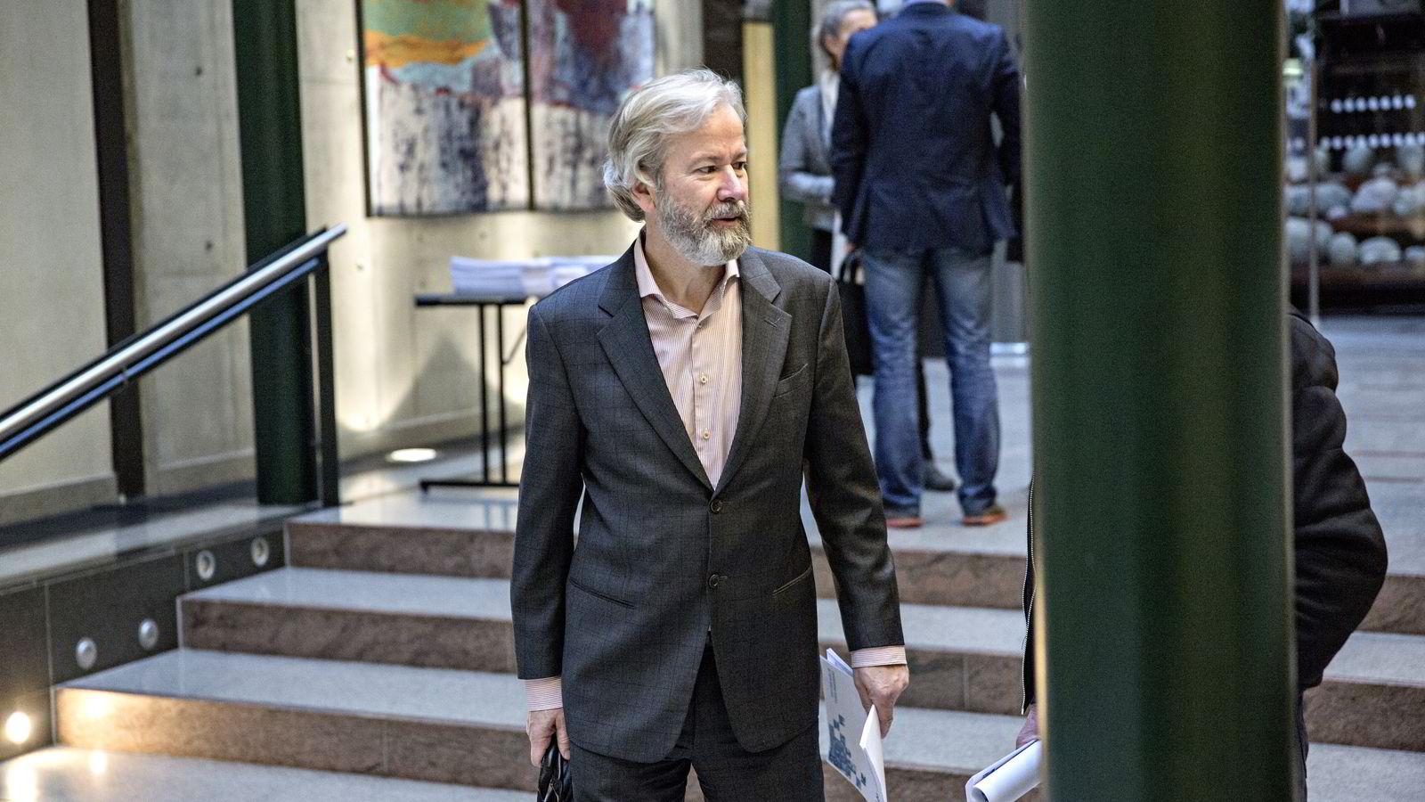 Styreleder Ole Jacob Sunde i Schibsted kan få nær én million kroner i styrehonorar hvis generalforsamlingen støtter valgkomiteens forslag. Foto: Aleksander Nordahl