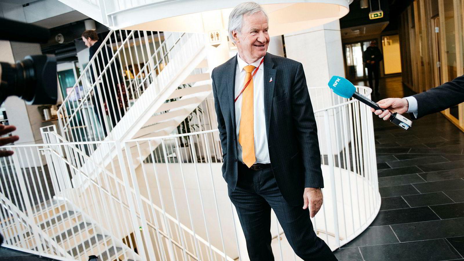Norwegian-sjef Bjørn Kjos. Flyselskapet opplyser i en børsmelding mandag at det har mottatt henvendelser fra flere parter.