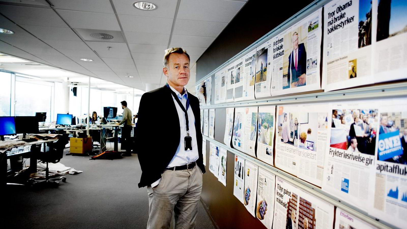 Sjefredaktør og administrerende direktør Amund Djuve i Dagens Næringsliv.