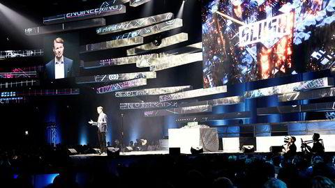 Nokia-styreleder Risto Siilasmaa taler under åpningen av gründer- og teknologikonferansen Slush 2018 i Helsingfors.