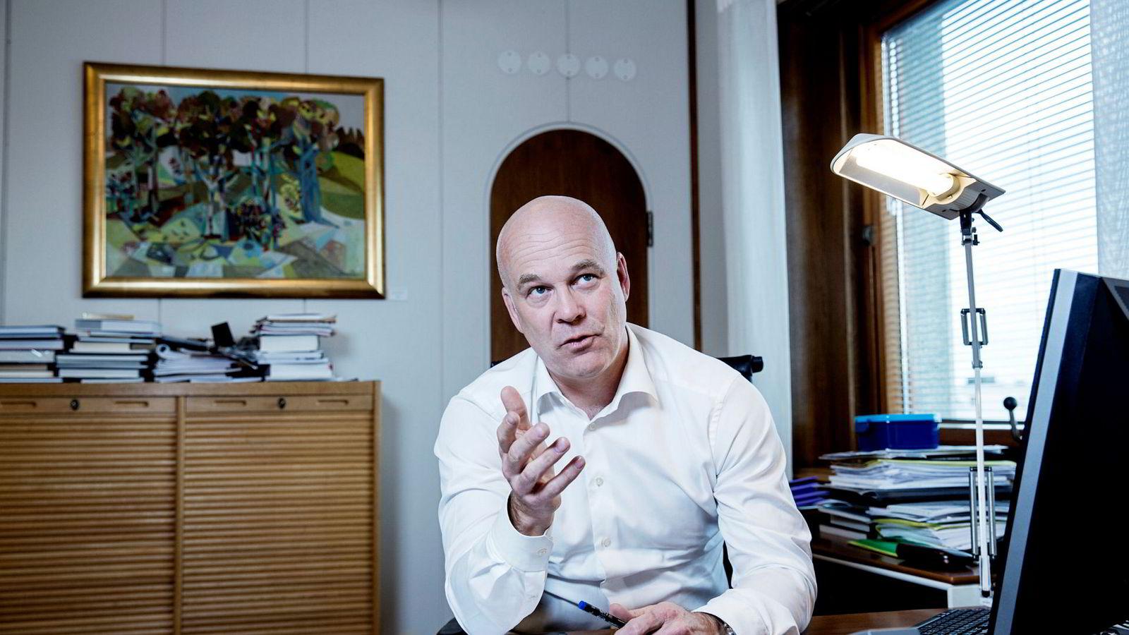 Kringkastingssjef Thor Gjermund Eriksen har nettopp sendt det årlige lisensbrevet til Kulturdepartementet.