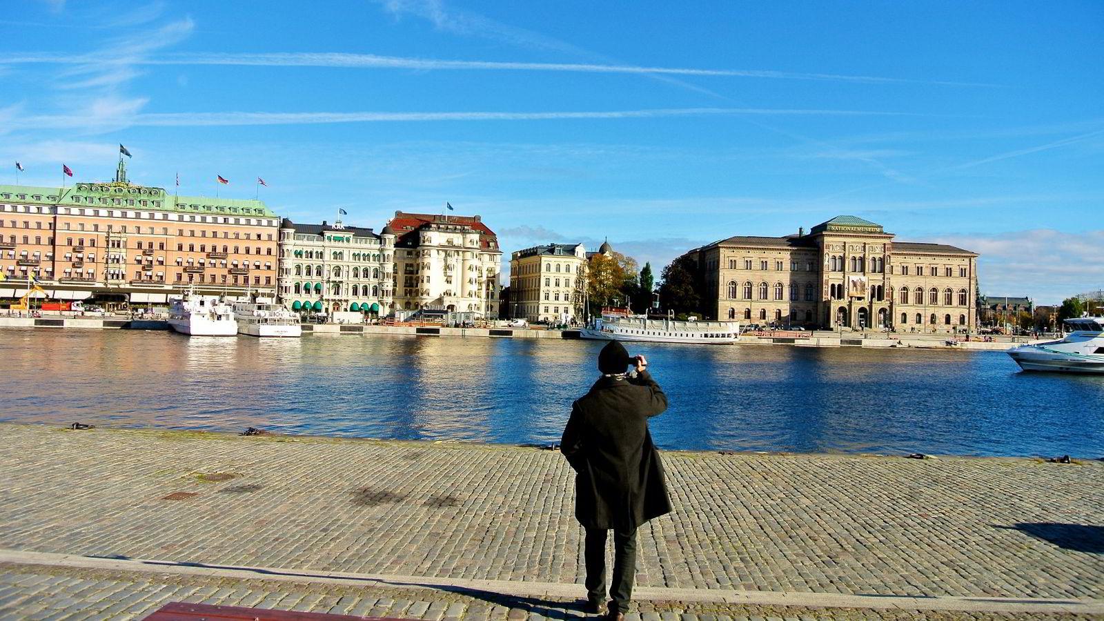 Professor Mats Alvesson misliker utviklingen i det svenske samfunnet. Her et gatebilde fra Stockholm. Foto: Gunnar Bløndal