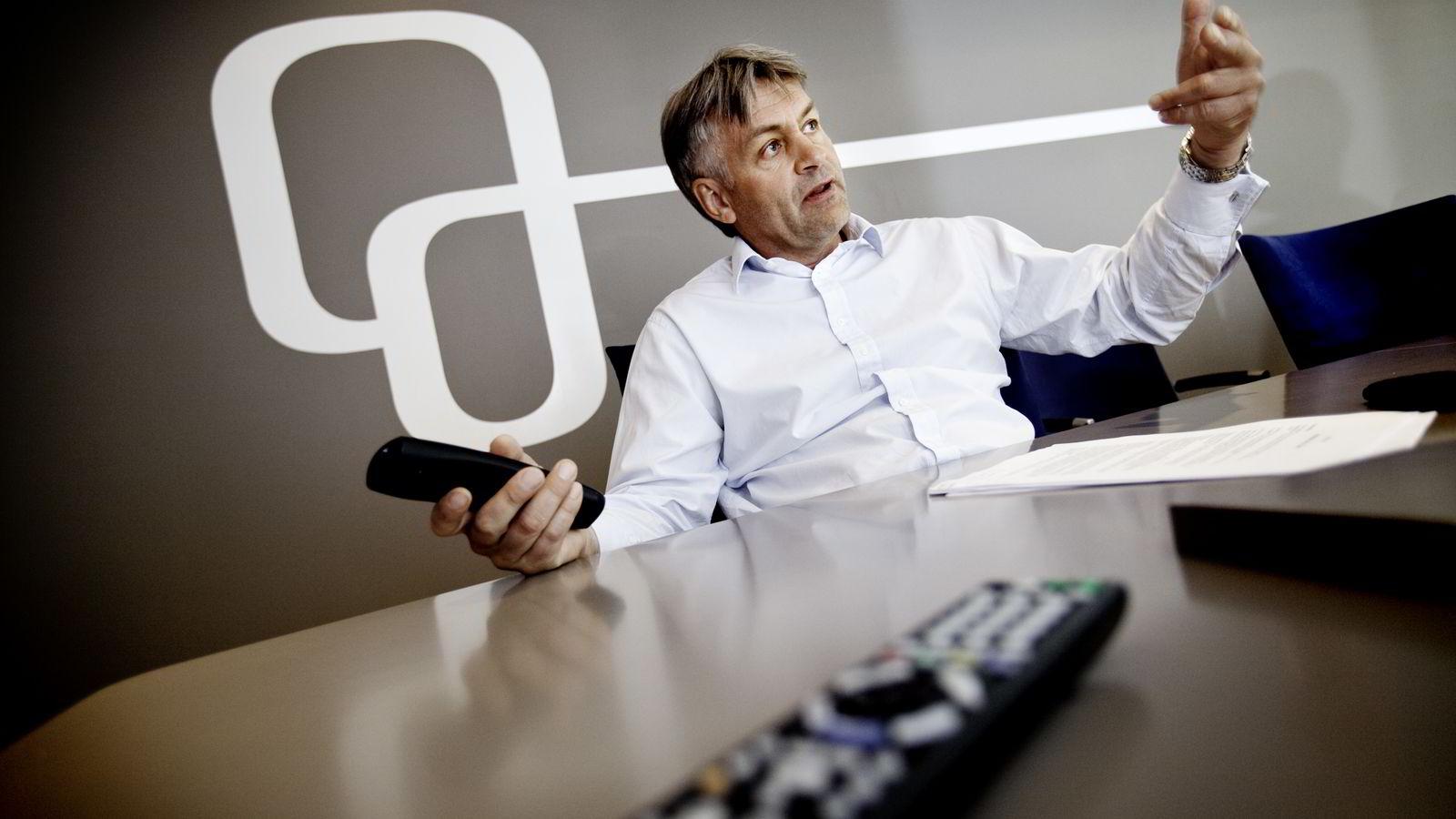 FRA FJERNKONTROLL TIL MOBILTELEFON? Toppsjef Gunnar Evensen i Get kan komme til å lansere mobiltjenester sammen med sine nye eiere i fremtiden.