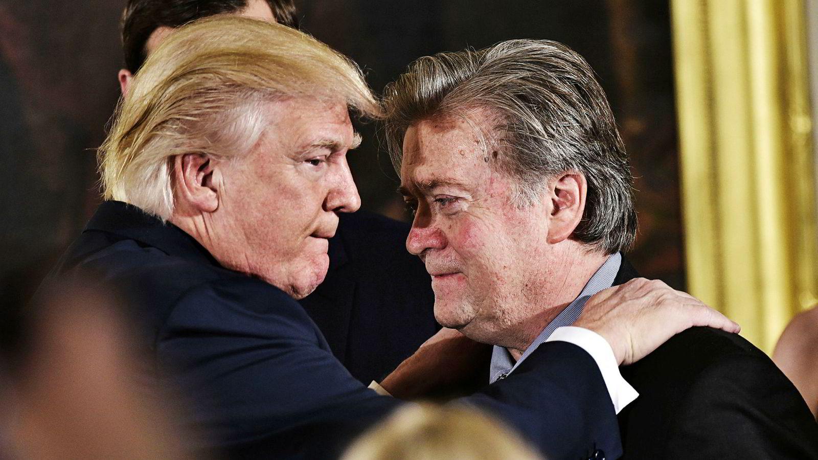 Steve Bannon varte cirka syv måneder som sjefstrateg for den amerikanske presidenten. Nå sikter han seg inn mot Europa, har han fortalt amerikansk presse.