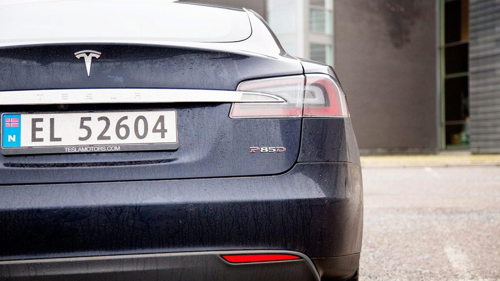 Versting-modellen Tesla Model S P85D med inntil 539 hestekrefter er en av modellene som nå er historie.