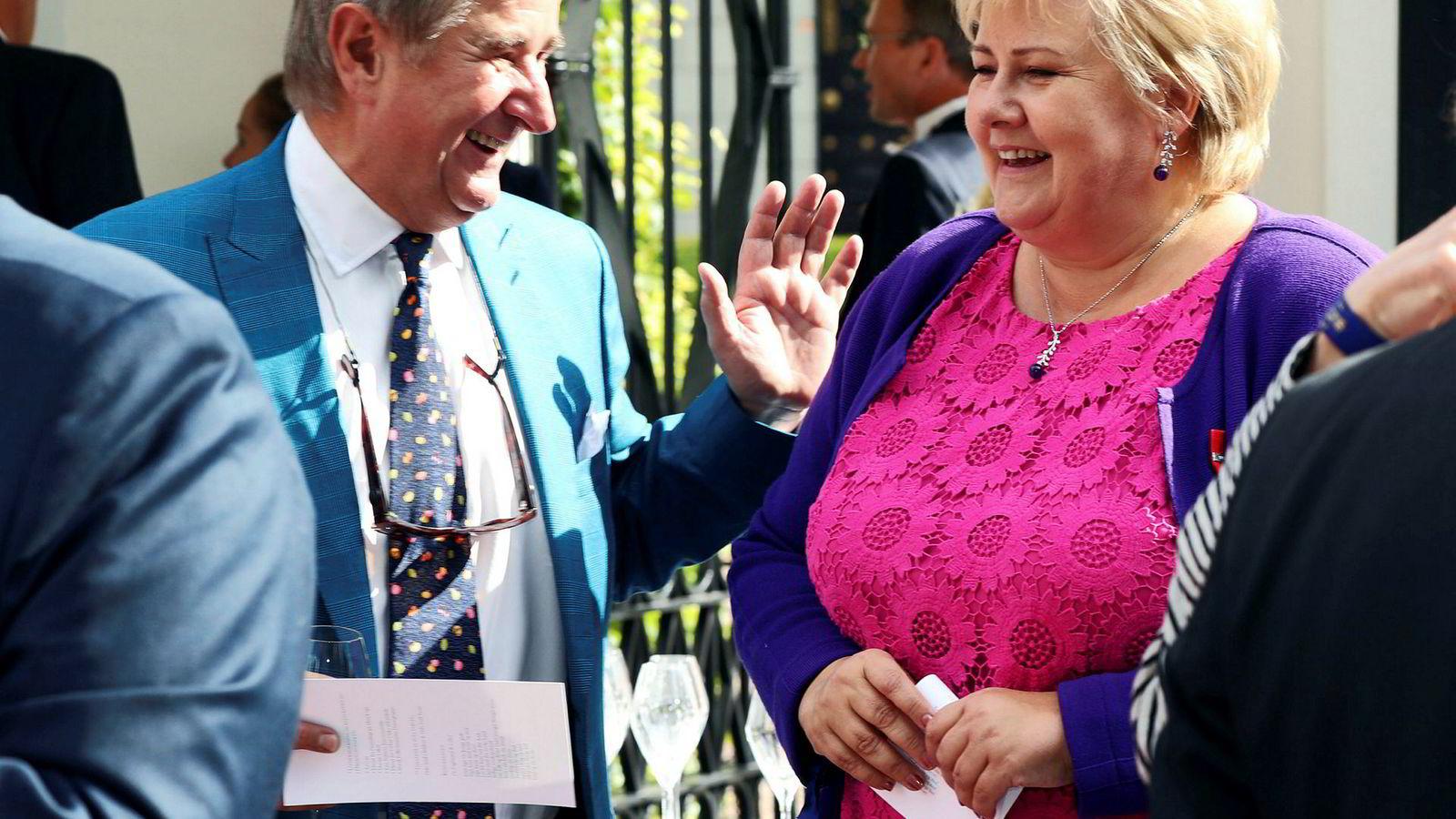 Christen Sveaas (bildet) og Christian Ringnes har lenge kjempet for at formuesskatten skal kuttes helt. Nå har de forståelse for at Erna Solberg mener at Norge ikke har råd til å kutte formuesskatten.