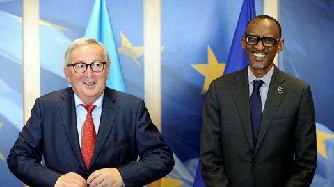Formann i Europakommisjonen, Jean-Claude Juncker og Rwandas president Paul Kagame møtte hverandre i Brussel i juni i år.