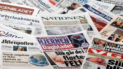 Norske dagsaviser. Foto: Dagens Næringsliv