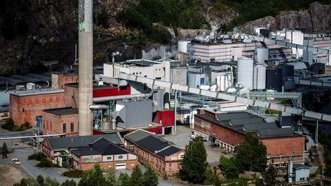 Skulle Norske Skog forsvinne, ville den desidert største kjøperen av norsk massevirke bli borte. Da blir norsk skog helt og holdent et reservemarked for utlandet, særlig Sverige, skriver artikkelforfatteren. Her fra Norske Skog Saugbrugs i Halden.
