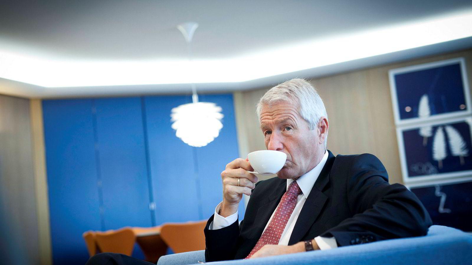 Generalsekretær Thorbjørn Jagland i Europarådet på sitt kontor Strasbourg. Foto: Gunnar Lier