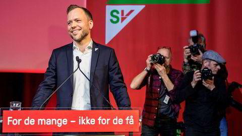 SV-leder Audun Lysbakken kan glede seg over at SV har flest kvinnelige listetopper til kommunevalget.