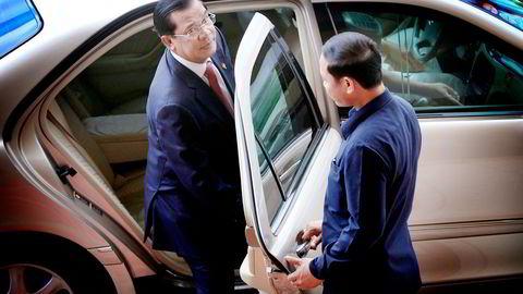 I tre tiår har Hun Sen styrt Kambodsja med jernhånd. Ikke engang kongefamilien har noe den skal ha sagt.                   Foto:  Samrang Pring, Reuters/NTB Scanpix