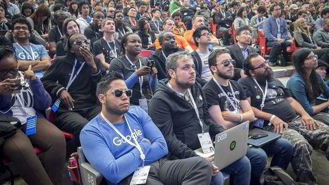 Google er et mange mange selskaper som har vært i søkelyset i debatten om den ekstreme mannsdominansen i Silicon Valley. Da selskapet holdt sin store utviklerfestival I/O i mai i år var det en klar overvekt av menn som deltok.