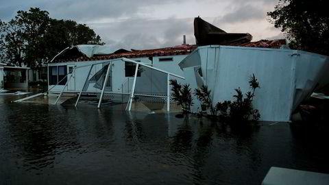 Irma har gjort store skader på sin ferd over Florida. Her fra Bonita Springs.