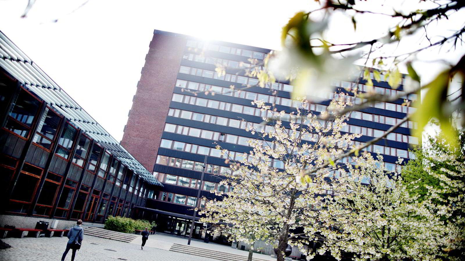 15. april gikk fristen ut for å søke høyere utdannelse via Samordna opptak. Bildet viser Universitetet i Oslo.