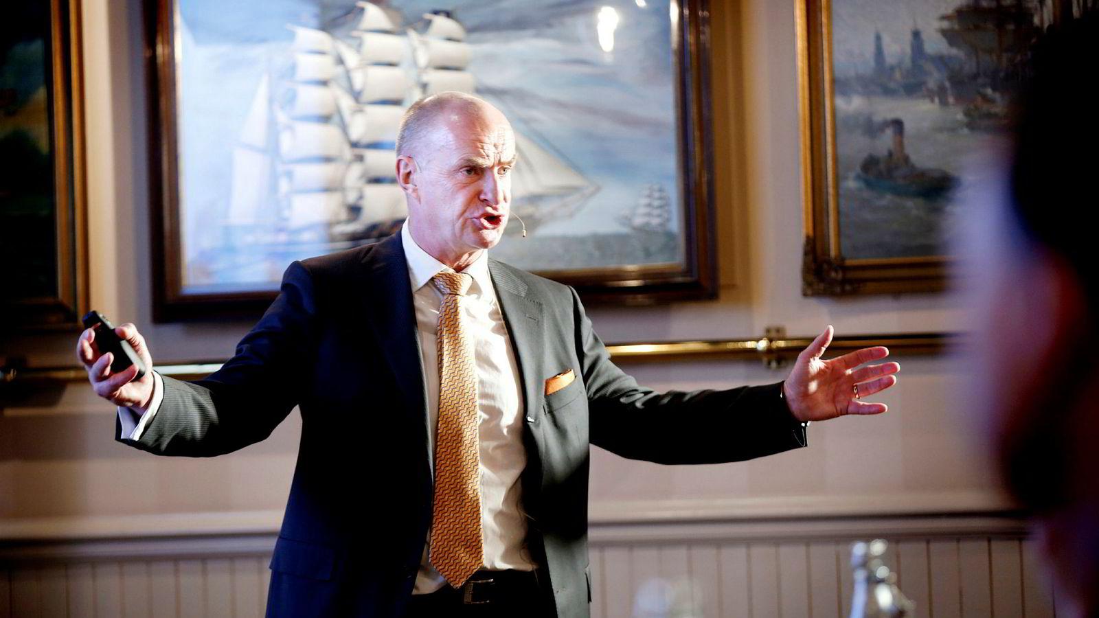Administrerende direktør Sverre Bjerkeli i Protector Forsikring. Her fra fremleggelse av kvartalstall i 2016.