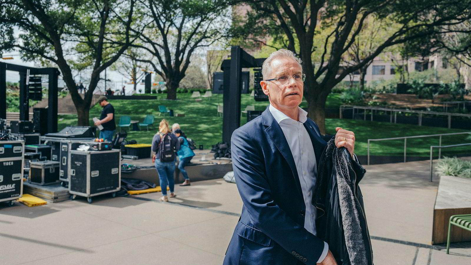 SAS-sjef Rickard Gustafson vil ikke spekulere på når streiken er over.
