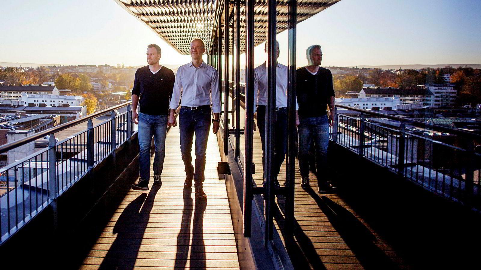 Yngve Tvedt (til venstre) var med og startet Norselab i 2015. Nå er kjerneteamet utvidet med blant andre Ivar Kroghrud og ambisjonene skrudd kraftig opp med ferske penger.