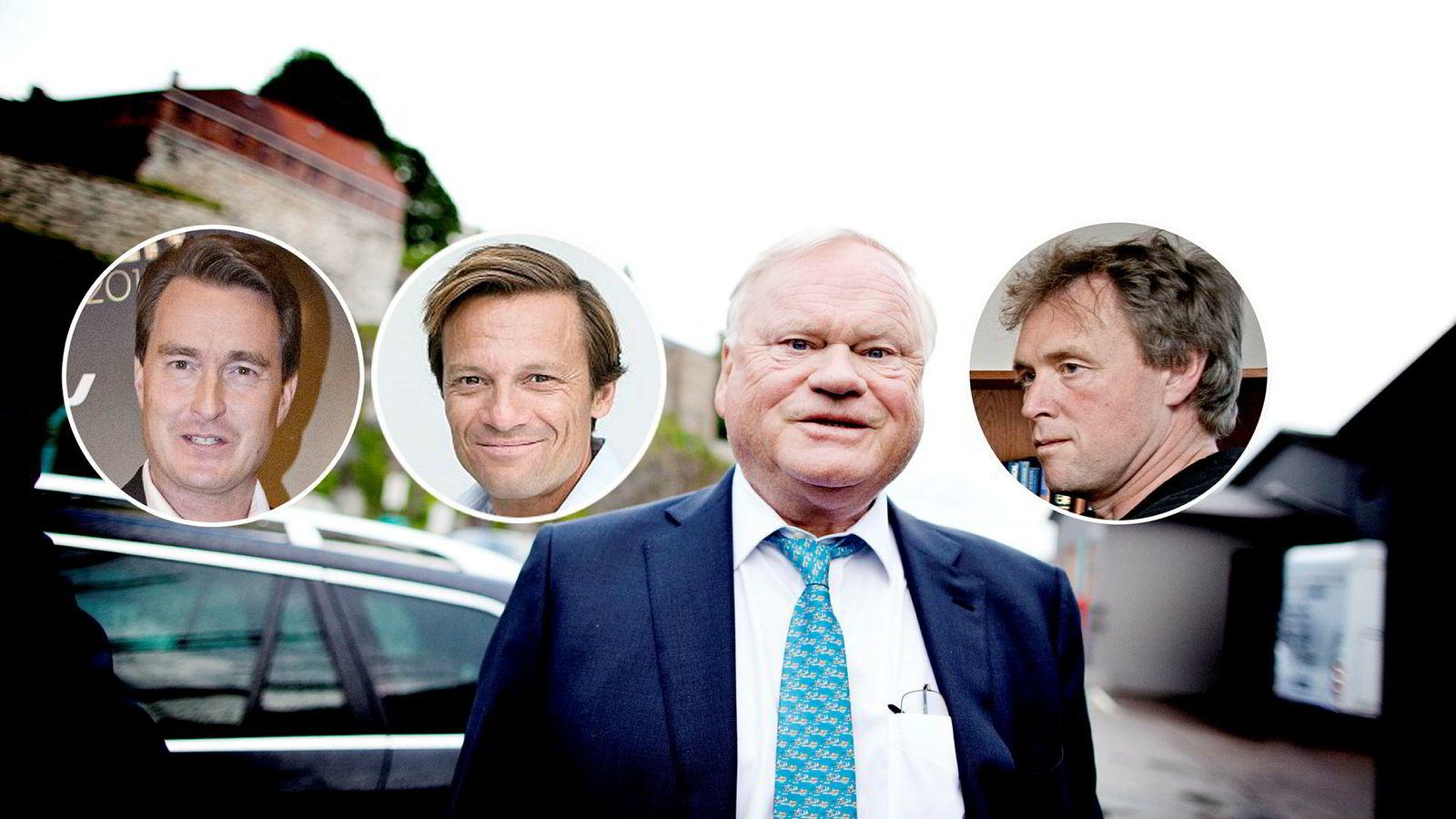 Cato Sælid (fra venstre), Morten Angelil, John Fredriksen og Per Magne Jensen satser på teknologiselskapet The Future Group.
