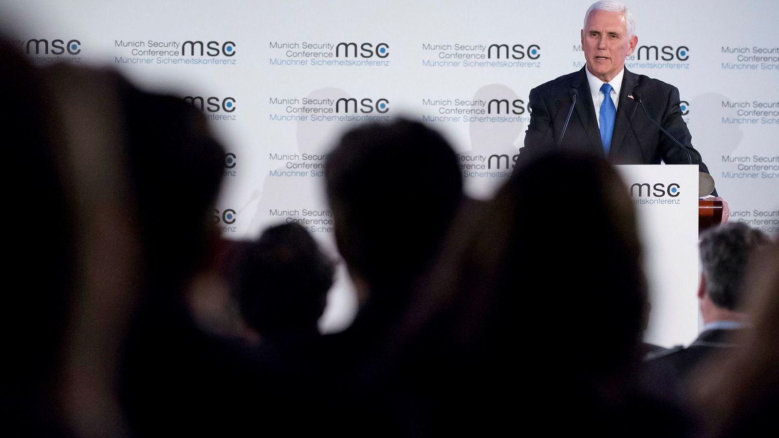 USAs visepresident Mike Pence var skarp og formanende overfor europeiske allierte under sikkerhetskonferansen i München nylig.