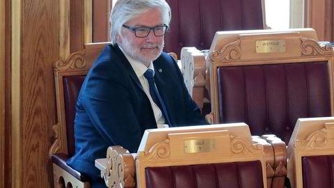Oslo 20171010. Jon Gunnes (V) under trontaledebatten i Stortinget tirsdag. Foto: Lise Åserud / NTB scanpix