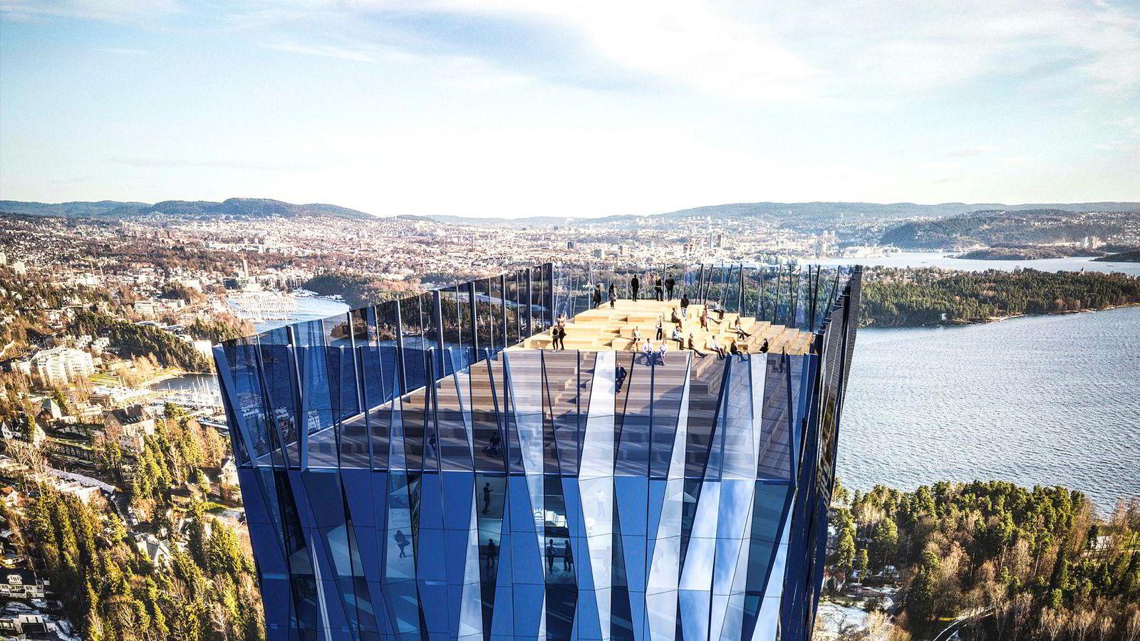 Viljen til å inngå en avtale om inndragning av merverdien kan i så måte være en test på om intensjonen bak bygget virkelig er samfunnsnytten, skriver artikkelforfatteren. Bildet viser Kjell Inge Røkkes skyskraper «Den store blå».