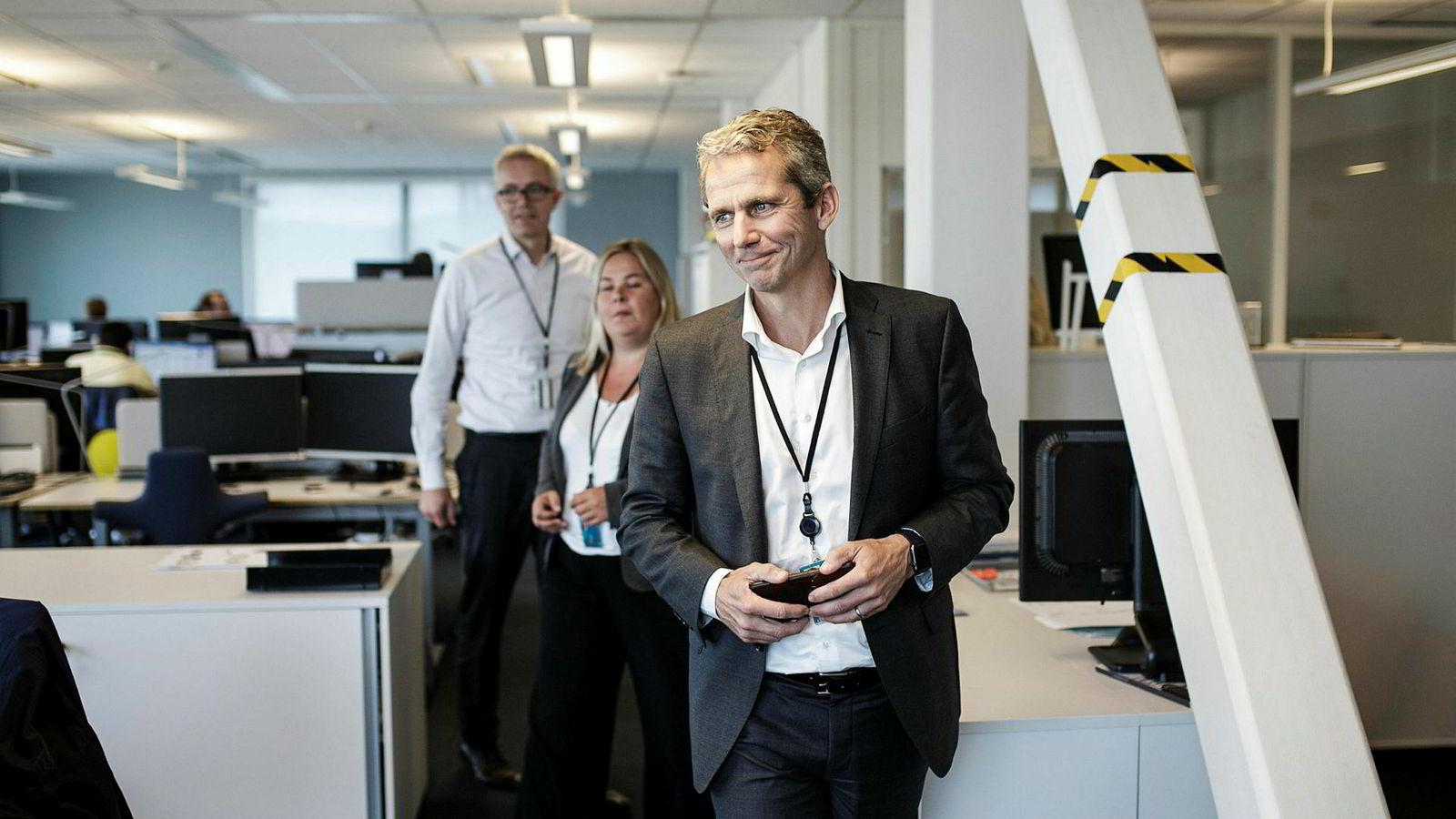 Konserndirektør for pensjon og sparing Bengt Olav Lund, produkteier Lise Spro og produktspesialist Harald Ulrikson i DNB har sammen med inntil 80 andre DNB ansatte jobbet mot etableringen av aksjesparekonto 1. september.