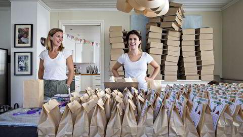 Fra venstre: Alexandra Bodd og Mira Kahn er gründerne bak Kreakid. Foto: Aleksander Nordahl