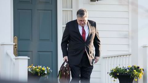 Justisminister William Barr jobber med å sladde graderte opplysninger før han sender Mueller-rapporten til Kongressen.